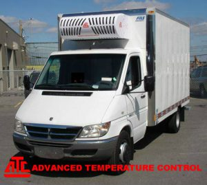Refrigerated truck with ATC16 nose mount system.