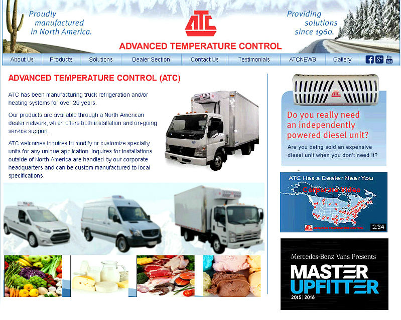ATC manufactures Transport Refrigeration systems for Rooftop and Nose mount applications. Call 833-878-5287