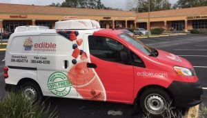 Refrigerated compact delivery van - Edible Arrangements uses an ATC-14RT to ensure fresh product deliveries.