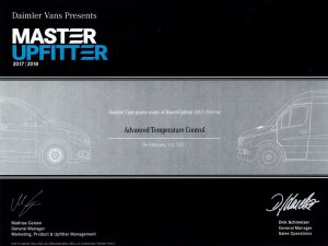 Mercedez Benz honours ATC Trcuck Refrigeration with Master Upfitter Certification