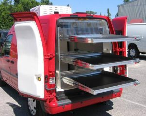 Compact Delivery Van with shelves using ATC8-RT for freshness in every Bakery delivery