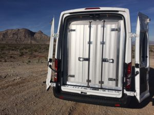 Reefer Van - Lined cargo area of Ford Transit with ATC F18 root top system