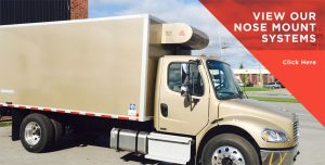 Nose mount systems designed for medium to large boxed trucks and trailers to support a variety of urban delivery applications.