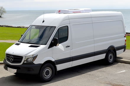 ATC's 16RT with optional electric standby on high-top extended wheelbase Mercedes Benz Sprinter.