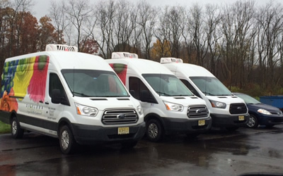 ATC refrigerated rooftop mounted systems on delivery vans. To find your solution call 1-800-295-4156 for more information.