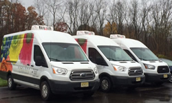 Floral delivery vans with ATC roof mounted refrigeration systems. Call 1-800-295-4156 fro more info.